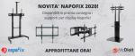 Novità carrelli, supporti per monitor e Videowall Napofix 2020