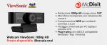 Webcam ViewSonic HD 1080p USB per sistemi di videoconference professionali