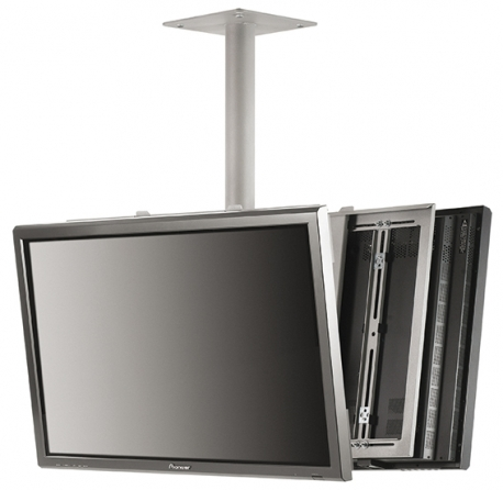 "Supporto universale da soffitto, 2 monitors, inclinabile, da 42"" a 55"""