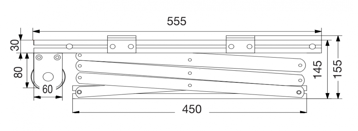 Prolift 100: Vista laterale chiuso