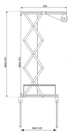 Prolift 30: Vista laterale aperto