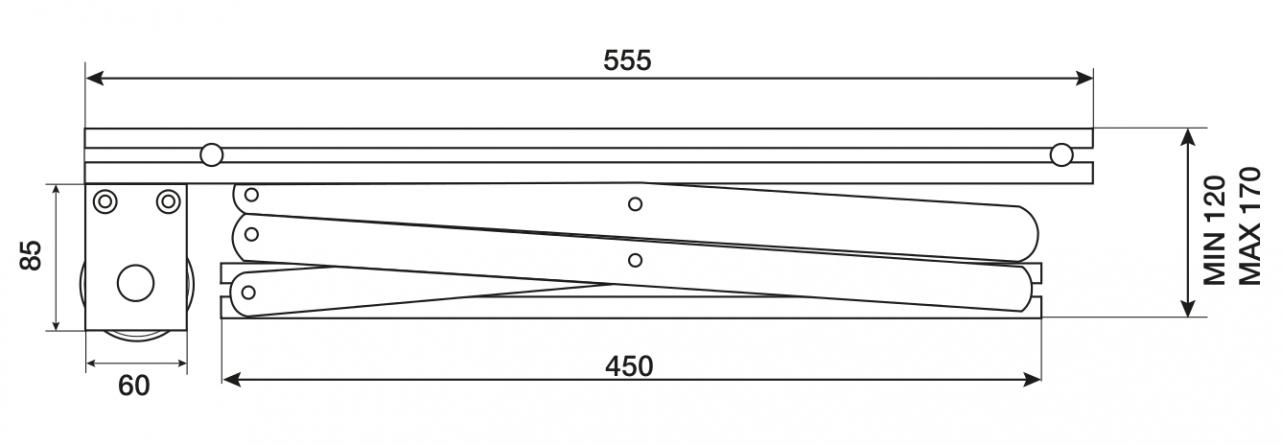 Prolift 30: Vista laterale chiuso