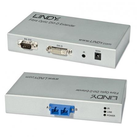 Extender DVI-D su fibra ottica, 300m