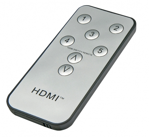 Compact Switch HDMI Remote 5:1 4K & Full HD 1080p 3D