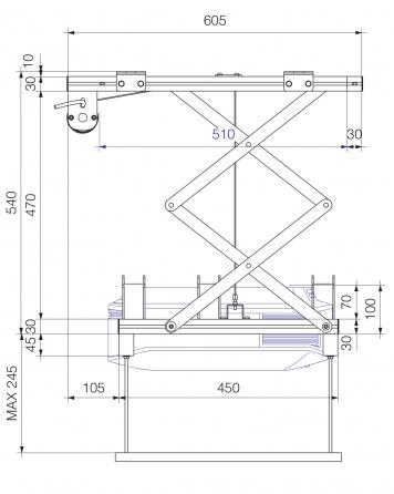 Prolift H40 HC - Vista laterale aperto