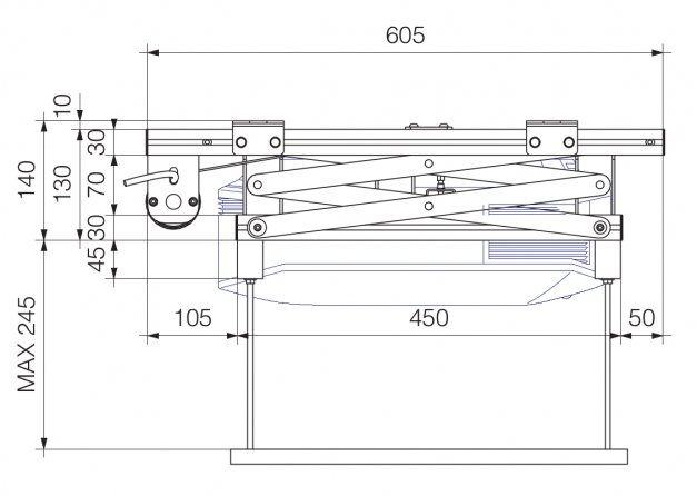 Prolift H40 HC - Vista laterale Chiuso