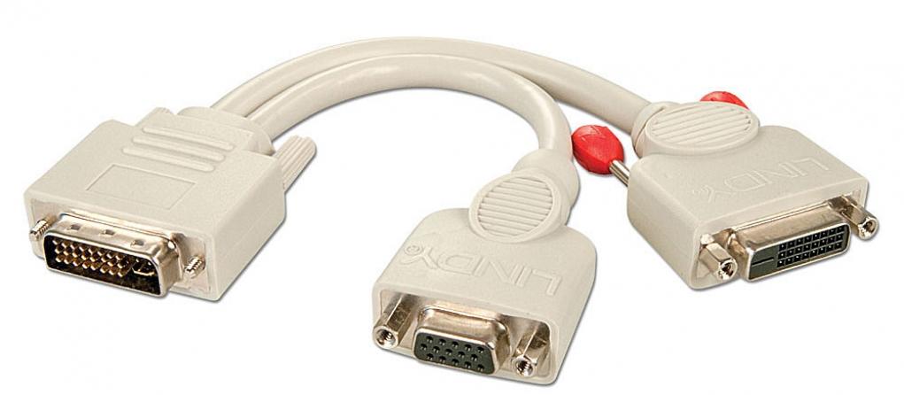 Cavo Splitter DVI-I / VGA & DVI-D, Grigio