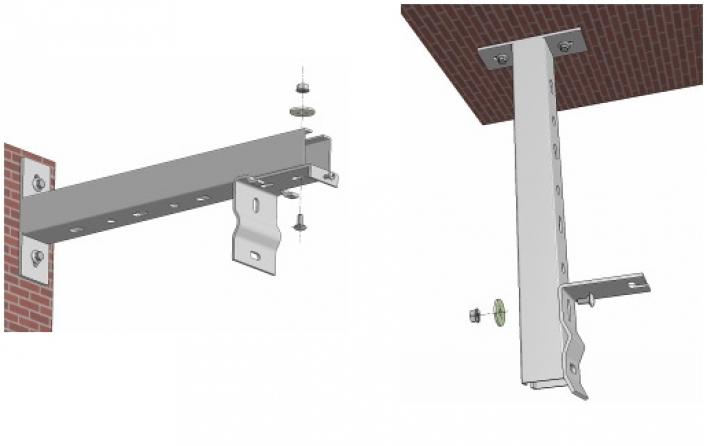 Staffe distanziatrici da 60cm per installazione a soffitto/parete