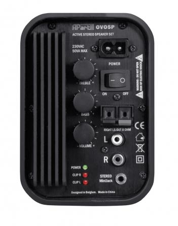 Coppia di diffusori da parete Apart OVO5P-W, 2x20W