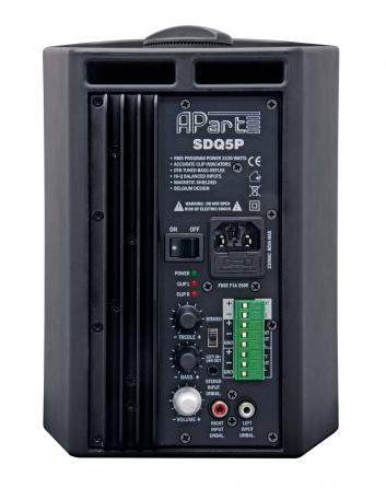 Coppia di diffusori da parete Apart SDQ5PW, 2x30W
