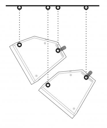 Coppia di diffusori da parete Apart MASK12-W, 350W