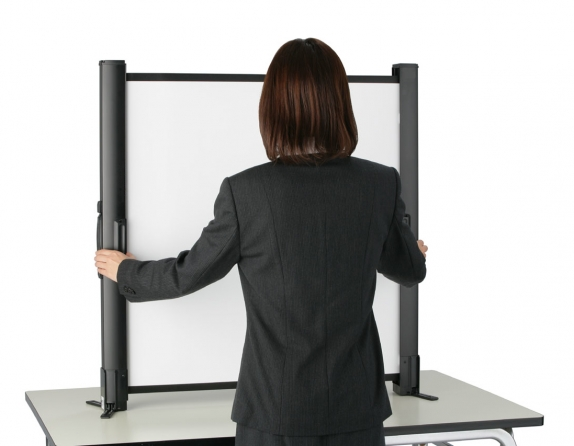 """Schermo proiezione """"Presenter"""" da tavolo richiudibile"""