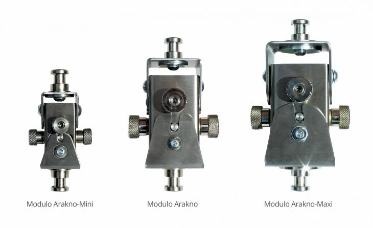 Supporto professionale per videoproiettore arakno-mini con regolazione micrometrica 15cm bianco