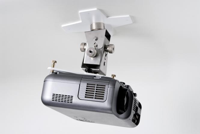Supporto professionale per videoproiettore arakno-mini con regolazione micrometrica 15cm + prolunga bianco