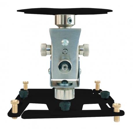Supporto professionale per videoproiettore arakno con regolazione micrometrica 18cm nero