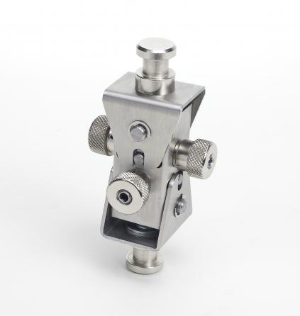 Supporto professionale per videoproiettore arakno con regolazione micrometrica 18cm silver