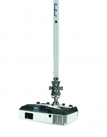 Supporto professionale per videoproiettore arakno con regolazione micrometrica 18cm + prolunga nero