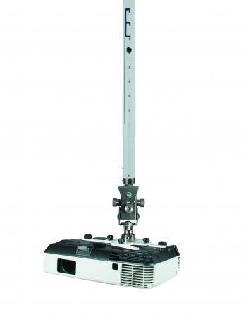 Supporto professionale per videoproiettore arakno con regolazione micrometrica 18cm + prolunga silver