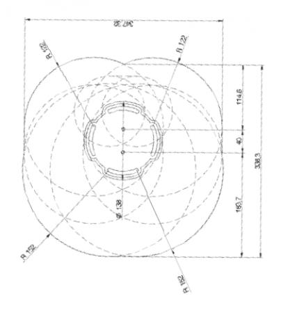 Supporto professionale per videoproiettore regolabile da 78/110cm (silver)