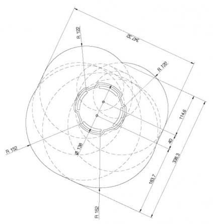 Supporto professionale per videoproiettore regolabile da 115/180cm (nero)