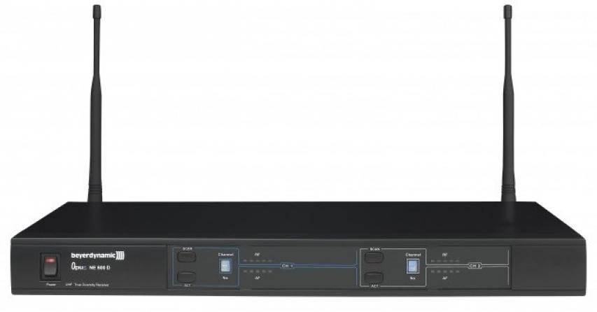 Ricevitore doppio UHF Beyerdynamic NE 600 D banda 668-692 MHz