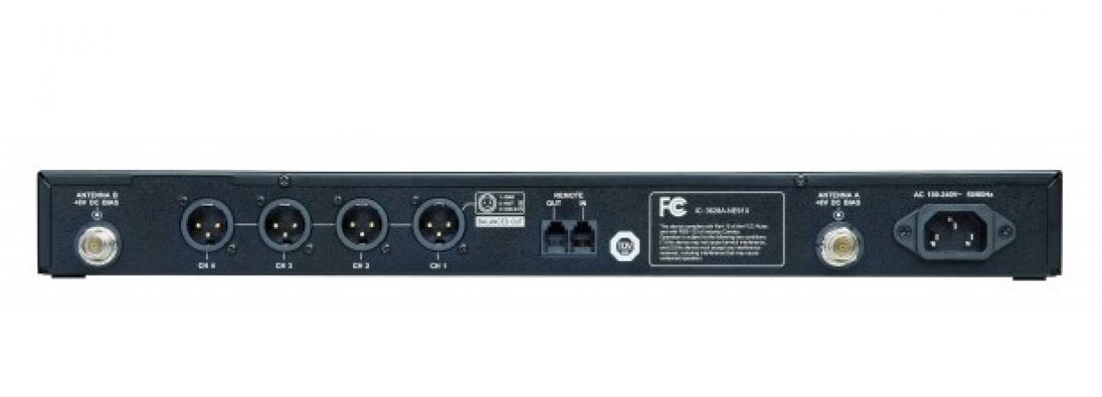 Ricevitore quadruplo UHF Beyerdynamic NE 914 banda 574-646 MHz