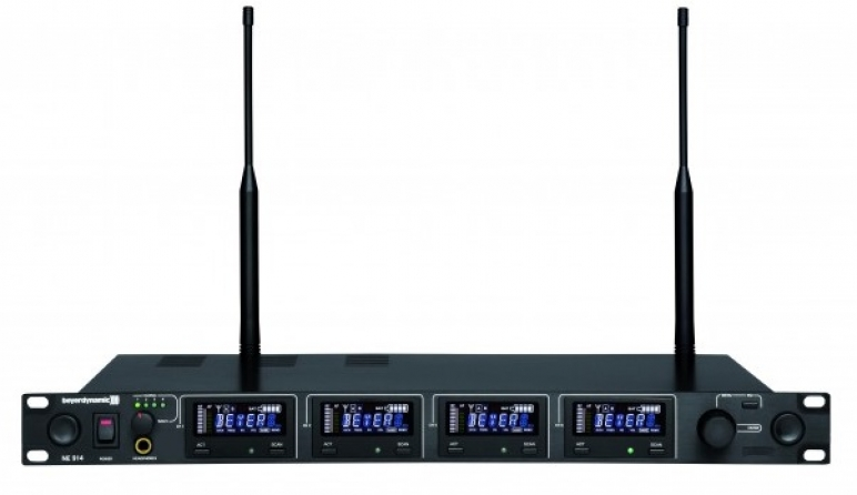 Ricevitore quadruplo UHF Beyerdynamic NE 914 banda 646-718 MHz