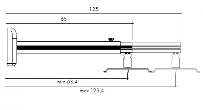 Staffa per videoproiettore 65/125cm a parete