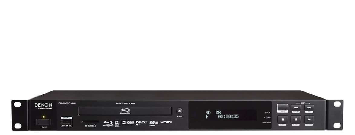 Lettore DVD/Blu-ray 1U rack professionale Denon DN500BDMKII