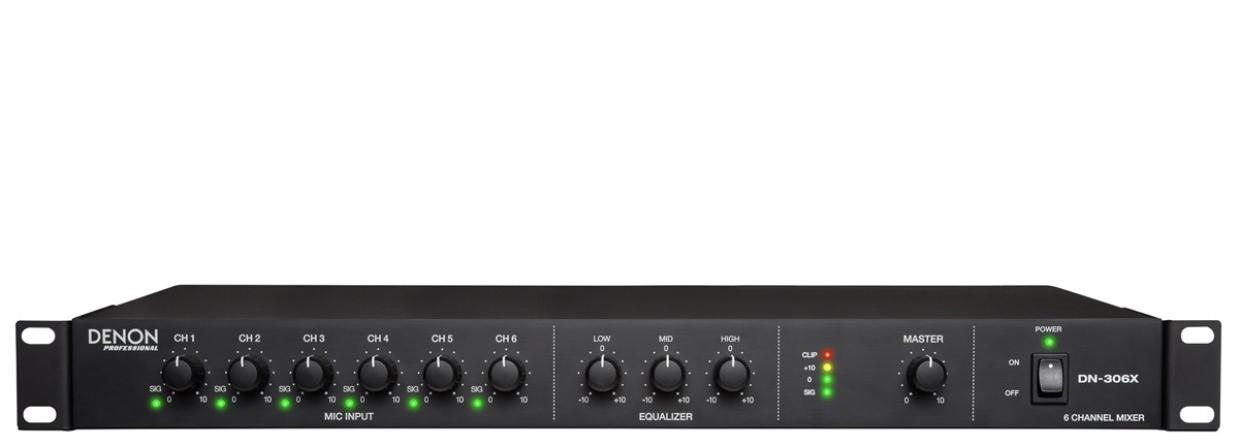 Mixer analogico Denon DN-306X 1U rack, 6 canali