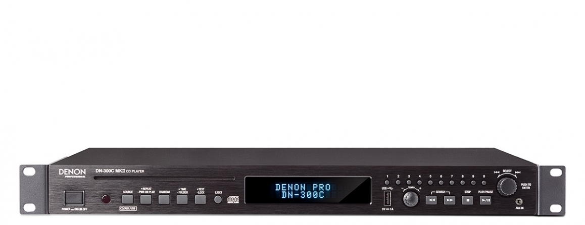 Lettore multimediale digitale Denon DN-300CMKII, 1U rack