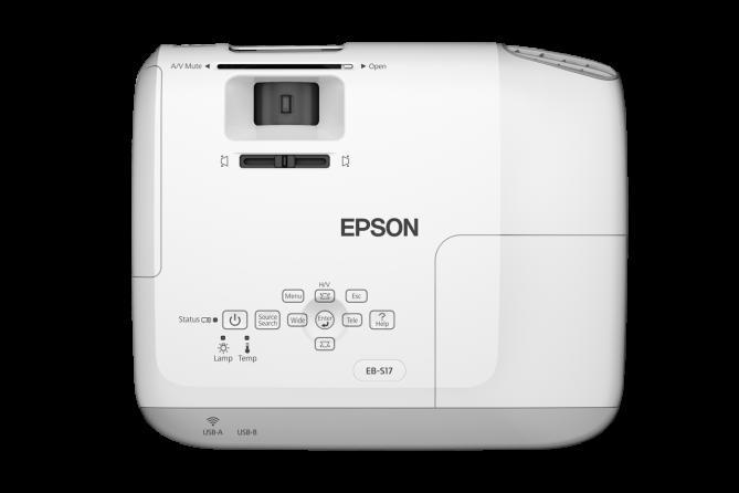 Videoproiettore Epson EB-S17 (vista dall'alto)