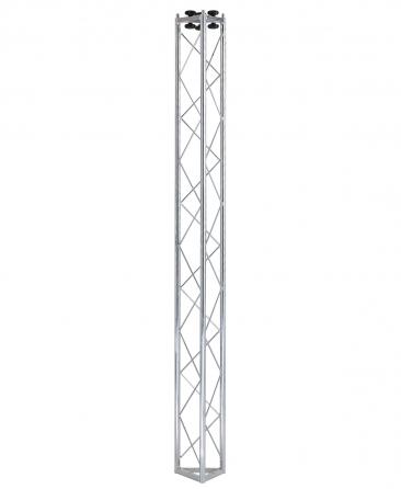 Traliccio triangolare in acciaio zincato bianco, 2000mm