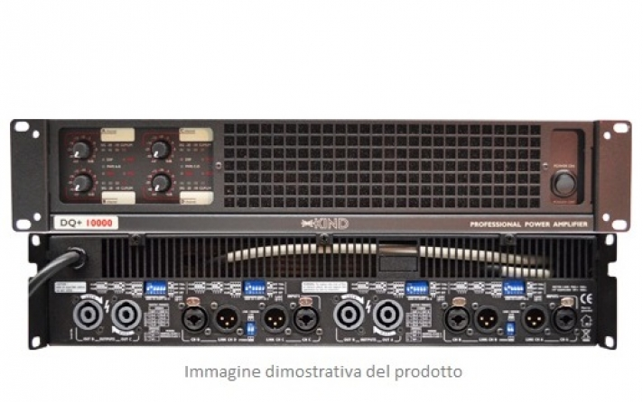 Amplificatore classe D Kind Audio DQ+ 10000, 4 canali