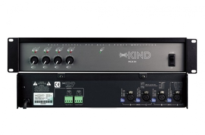 Amplificatore multizona classe AB Kind Audio MCX 84, 4 canali