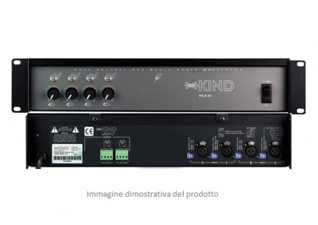 Amplificatore multizona classe H Kind Audio MCX 124, 4 canali