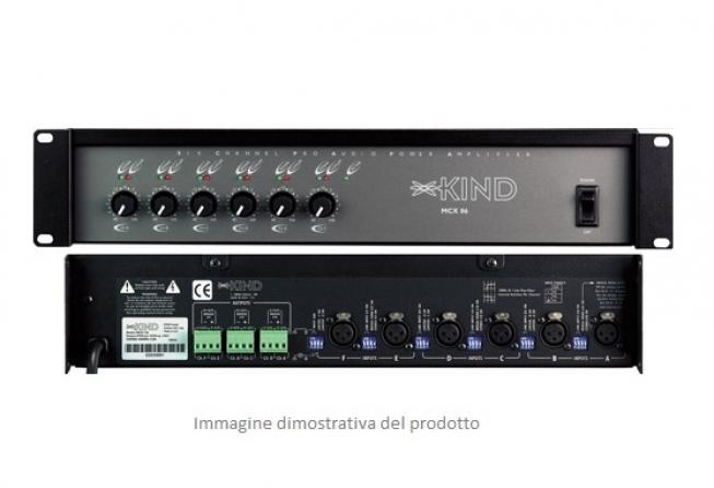 Amplificatore multizona classe AB Kind Audio MCX 86, 6 canali