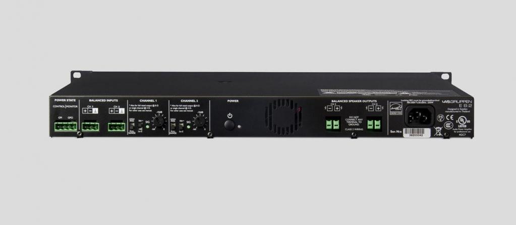 Amplificatore classe D Labgruppen E8:2, 2 canali