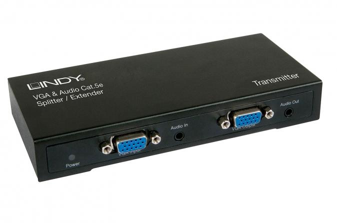 Extender VGA & Audio Cat.5e 300m 4 Porte - Trasmettitore