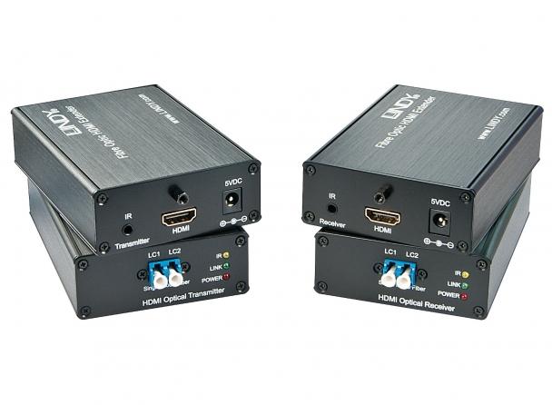 Extender HDMI 3D 4K e IR su fibra ottica, 3Km
