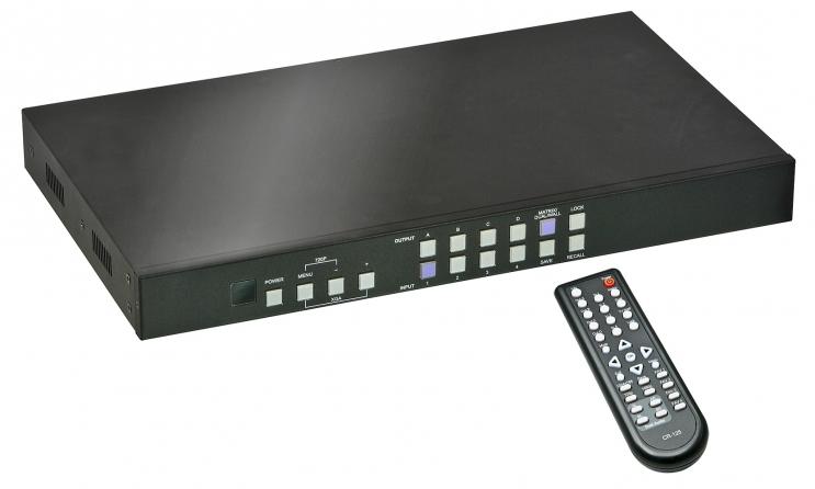 Matrice HDMI Video Wall 2x2 4 Porte Full HD 1080p