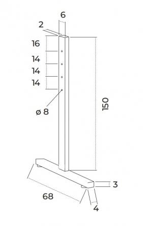 "Coppia di montanti da terra regolabili per schermi ""Service"" fino a 400cm"