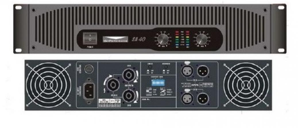 Amplificatore classe AB T&M Systems SA40, 2 canali