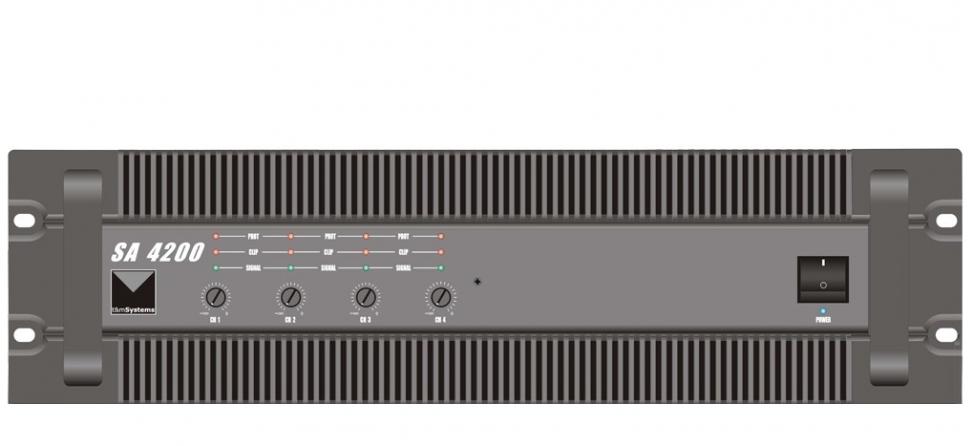 Amplificatore classe AB T&M Systems SA4200, 4 canali