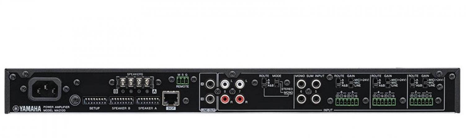 Amplificatore con mixer integrato classe D Yamaha MA2120, 2 canali