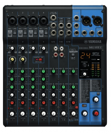 Mixer analogico Yamaha MG10XU, 10 canali con banco FX