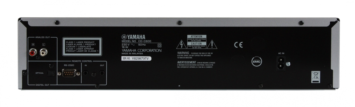 Lettore multimediale Yamaha CDC600BLRK