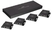 Extender Splitter HDMI & IR Cat.6 50m, 4 Porte