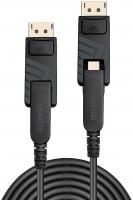 Cavo Mini DisplayPort 1.4 Ibrido in Fibra Ottica con connettori DP removibili, 70m