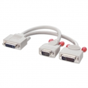 Cavo divisore analogico e digitale DVI-I / DVI-D & VGA, Grigio